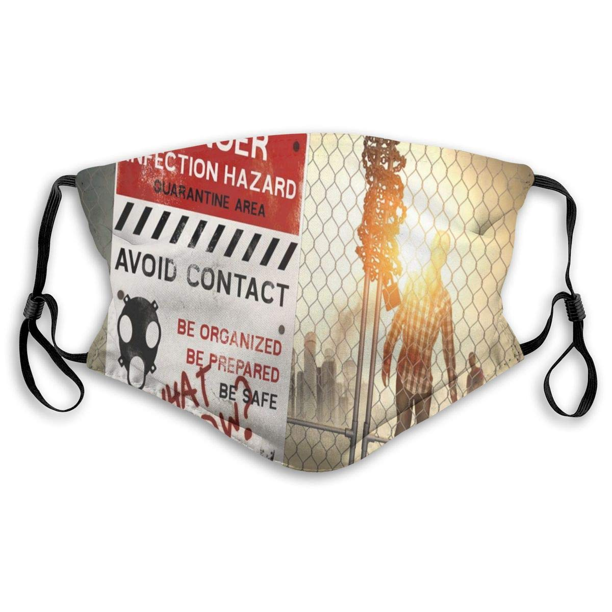 Mouth Mask,Sanitary Mask,Protection From Dust, Ash,Pollen Face Masks Dead Man Walking In Dark Danger Scary Scene Fiction