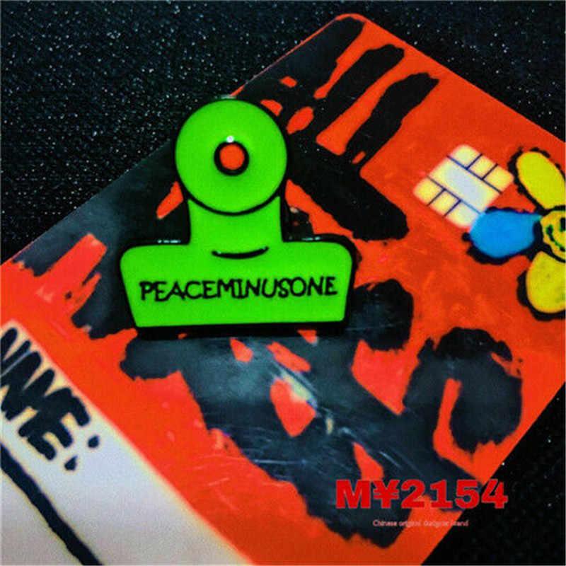 ฮาโลวีน Badge Bigbang Peaceminusone x Fragment ดอกไม้คลิป Pin Badge เข็มกลัด G-Dragon คอสเพลย์อุปกรณ์เสริม 1pc
