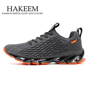 New Blade Running Shoes for Men Antiskid Damping Cool Outsole Walking Trekking Leisure Summer Running Zapatills Sneakers