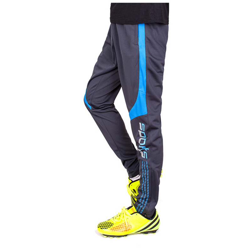 American Football Pants Men Soccer Training Football Trousers Zipper Pocket Jogging Male Fitness Workout Running Sport Pants image