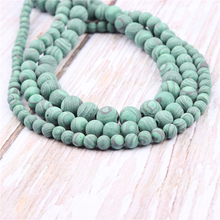 Frosted Malachite Natural?Stone?Beads?For?Jewelry?Making?Diy?Bracelet?Necklace?4/6/8/10/12?mm?Wholesale?Strand