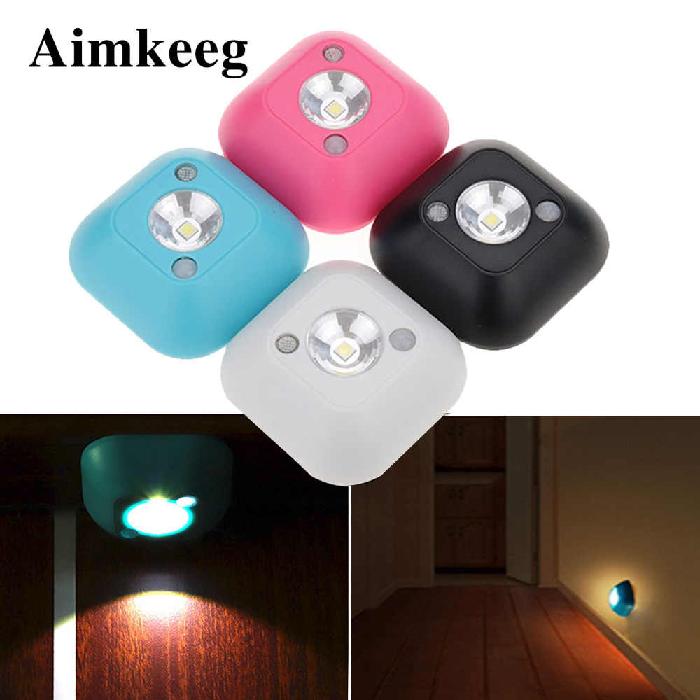 Draadloze Nachtlampje Led Slaapkamer Decor Lights Pir Infrarood Lampen Motion Sensor Lamp Kabinet Trappen Muur Chrismas Decoratieve Lamp