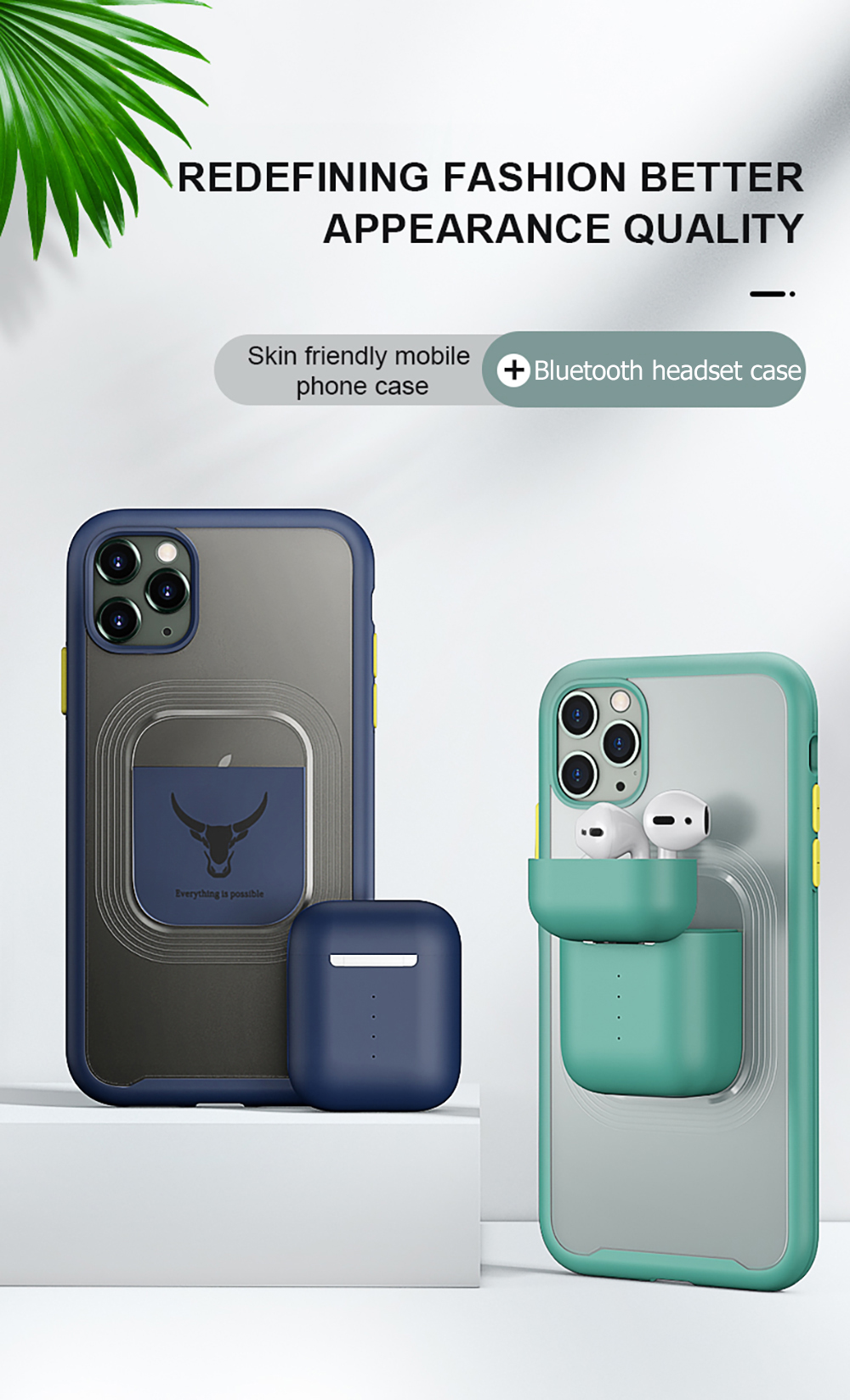 iPhone Case with Charging Case for AirPods
