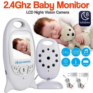 VB601 Baby Monitor 2 inch BeBe Baba Electronic Babysitter Radio Video Nanny Camera Night Vision Temperature Monitoring 8 Lullaby(China)