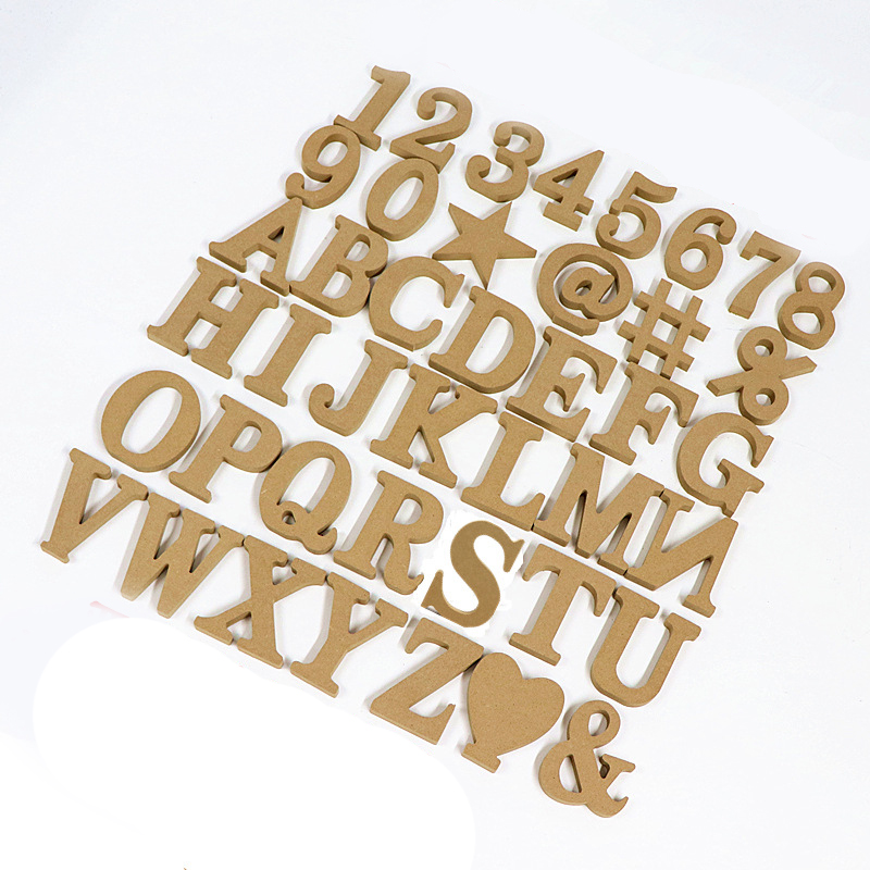 1pc 10CM Wood Color Letter English Alphabet DIY Name Art Craft Free Standing Love Heart Wedding Birthday Party Props Home Decor