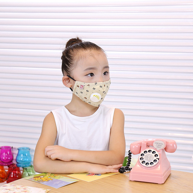 ffp3 boys and girls dustproof, anti-fog, anti-flu, anti-virus, PM2.5, warm and breathable cotton cloth with breathing valve mask 3