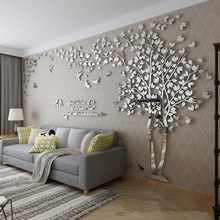 Large Size Wall Sticker Tree Decorative 3D DIY Art TV Background Wall Poster Home Decor Living Room Acrylic Wall stickers
