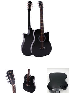 Guitar Pick Beginners Folk Basewood 6-String with Backpack Capo-Strap Acoustic AGT16
