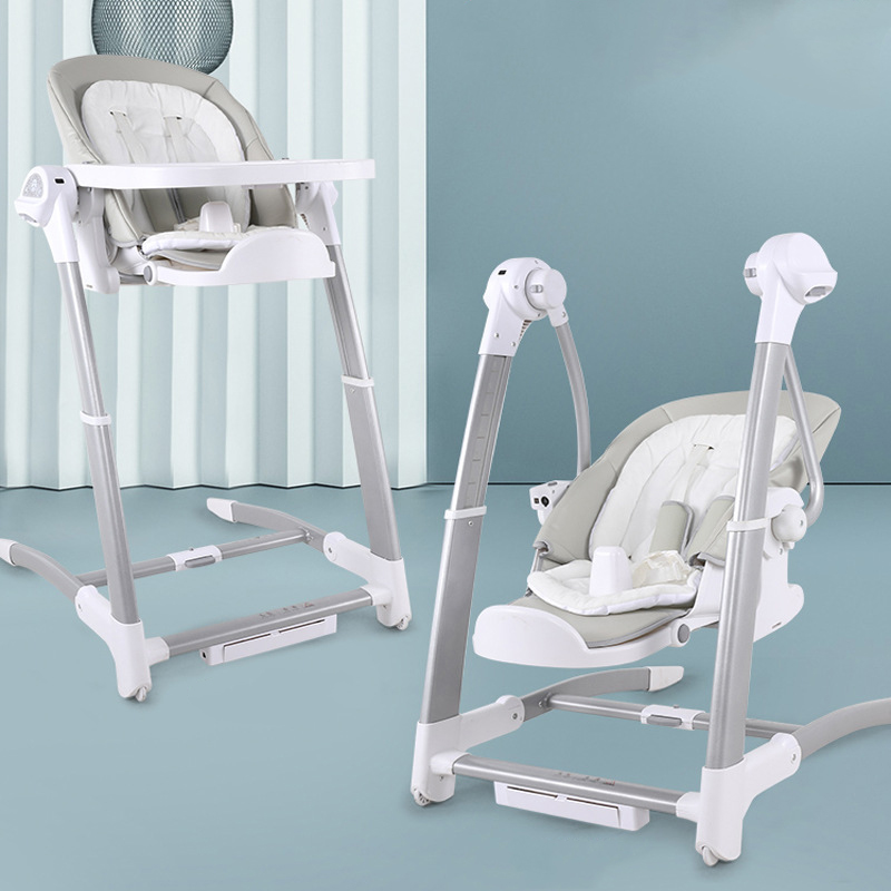 Children's Dining Chair Rocking High Chair Electric Baby Swing Sleepingmultifunction Adjustable Highchair 2 In 1