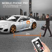 For volkswagen PKE Keyless Entry Remote Start Car Engine Alarm System with Push Button Anti theft APP Control Locking