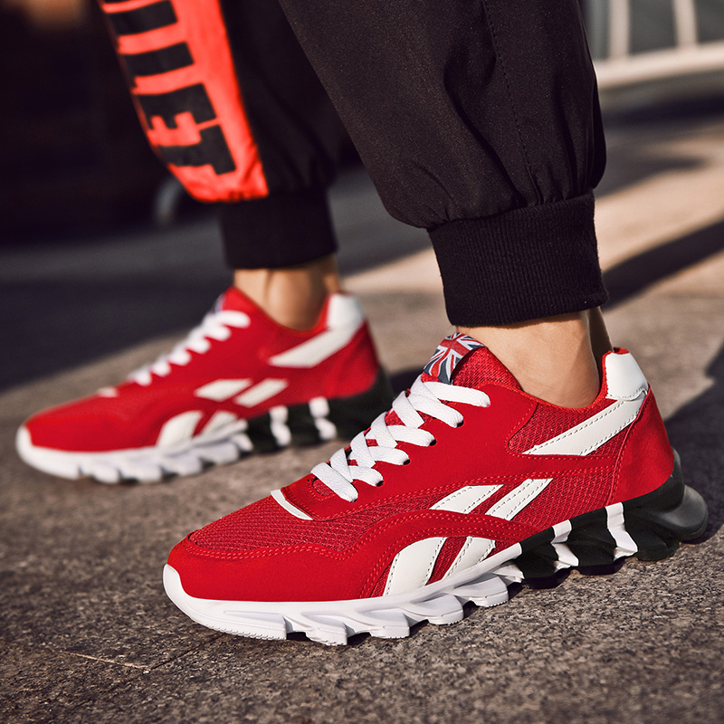 2019 New Spring Autumn Men Running Shoes for Outdoor Comfortable MenTrianers Sneakers Men Sport Shoes Athietic Breathable Blade