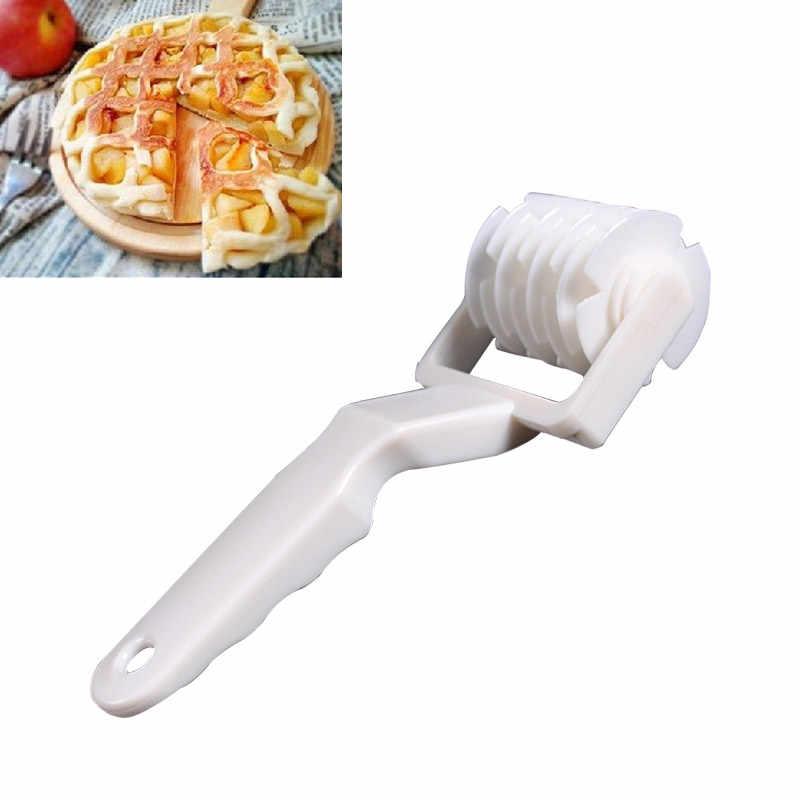 พิซซ่า Pastry Lattice Roller พายเครื่องตัดพลาสติกเบเกอรี่คุกกี้ Gadgets พาย CRAFT Bakeware เครื่องมือห้องครัวประเมินราคา
