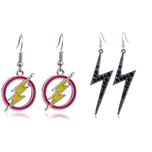 New Arrival Lightning Earring 1 Pair Yellow Alloy Round Hollowing Jewelry Exquisite For Women Pendientes Punk Party