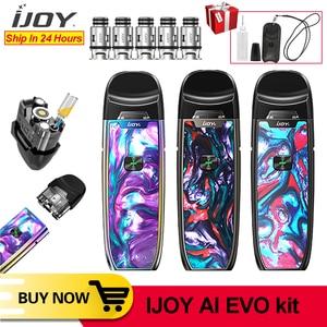Image 2 - Originale IJOY AI EVO Resina Pod penna vape Starter Kit 1100mAh Batteria 0.7 e 1.4ohm Bobina Vape Pod Kit VS Shogun Trascinare 2 minifit kit