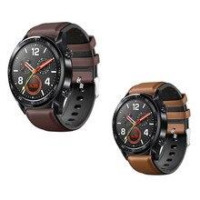 Uhr Strap für huawei Uhr GT 2 46mm Echtem leder Silikon Uhr Bands Für huawei Ehre Uhr Magie 2 armband