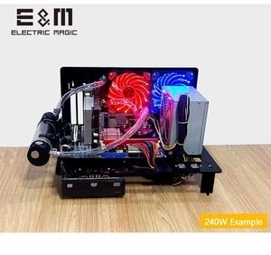 ПК испытательный стенд открытая рамка для ATX MATX материнская плата акриловый чехол для компьютера DIY мод хост стенд 240 120 водяное охлаждение ...