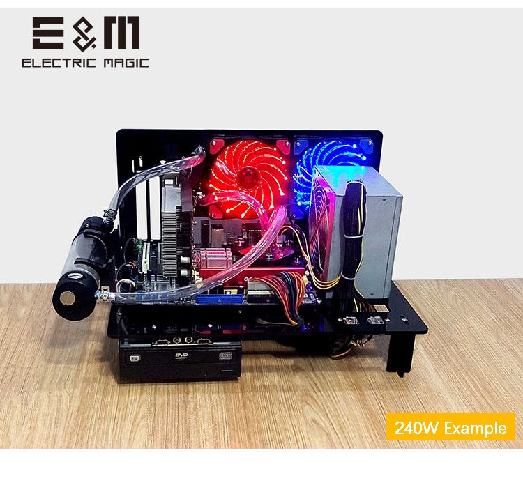 PC Prüfstand Open Frame Für ATX MATX Motherboard Acryl Computer Fall DIY Mod Host Stand 240 120 Wasser Kühlung übertakten