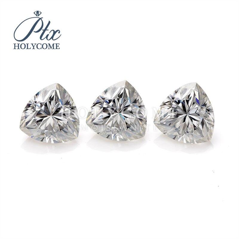 2020 Wholesale Custom Gemstone 3*3mm white hign quality trillion cut moissanite for earrings necklace kolczyki bracelet piercing