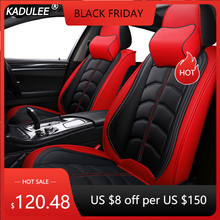 Kadulee tampas de assento do carro couro luxo para mazda cx 3 cx 4 CX 5 cx7 323 626 m2 m3 m6 3 axela familia 6 atenza 5 acessórios automóveis