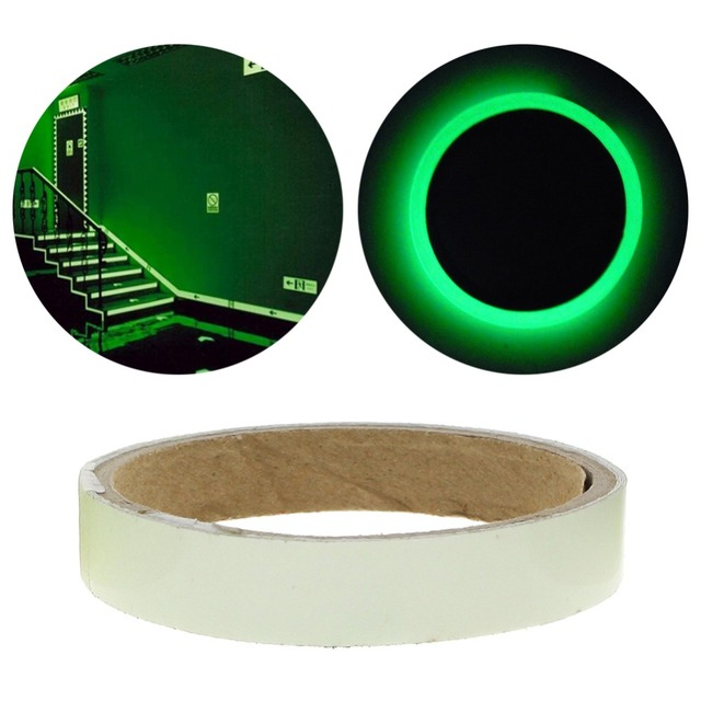 2cm*3m Luminous Fluorescent Night Self-adhesive Glow In The Dark Sticker Tape Safety Security Home Decoration Warning Tape 6