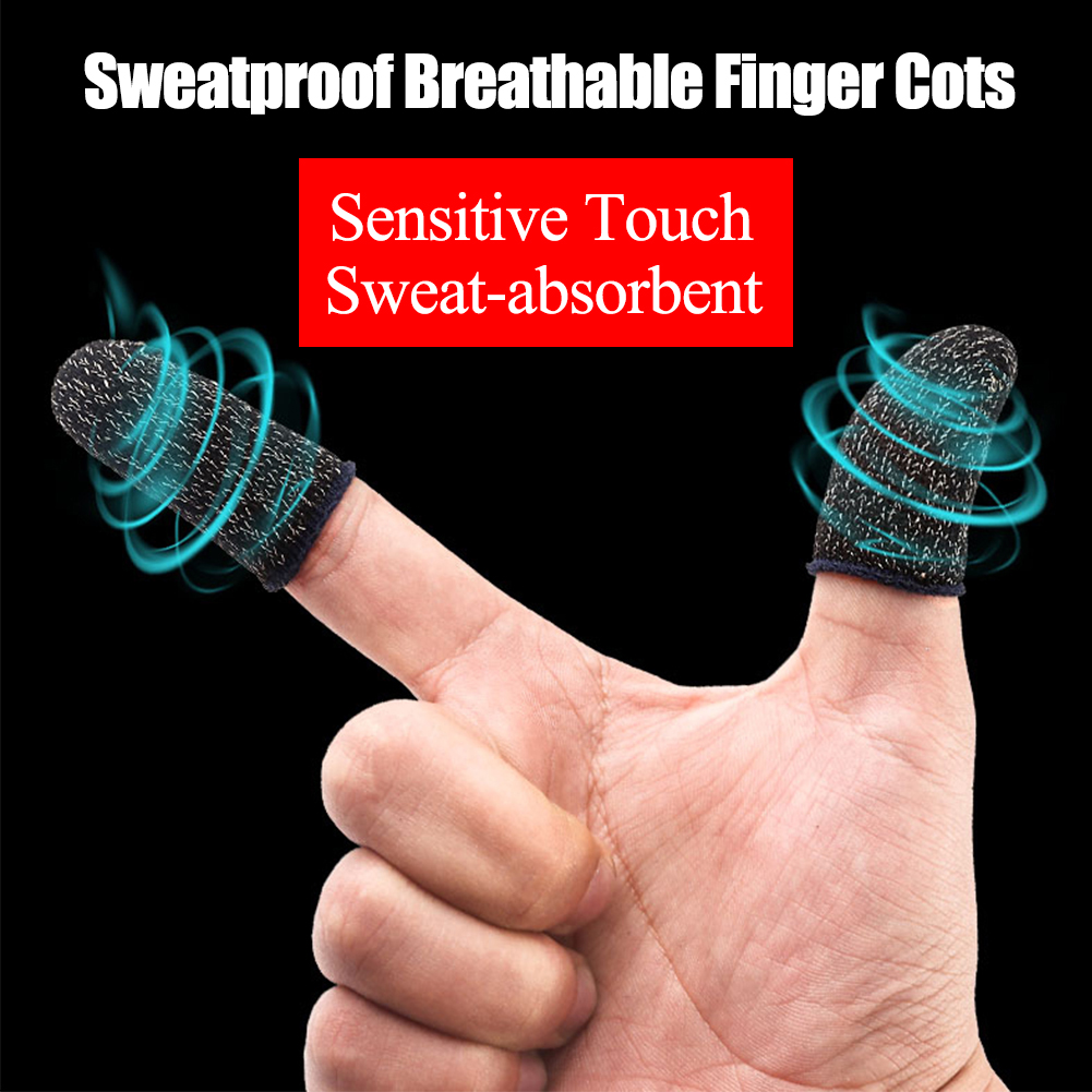 Image 3 - 1 Pair Mobile Game Finger Cots for PUBG Stall Sensitive Sweatproof Breathable Sleeve Gaming Accessories for iPhone iOS Android-in Cases from Consumer Electronics