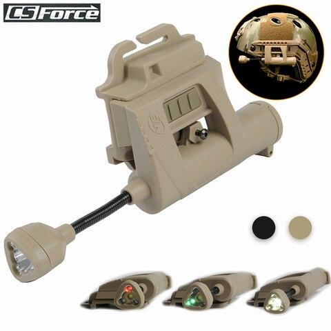 tactical airsoft capacete luz visao noturna mpls capacete da lampada 4 modos de iluminacao caca