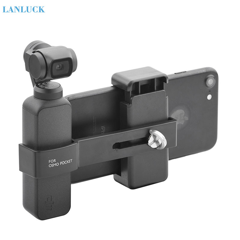 For DJI OSMO Pocket Camera Phone Mount Clip Handheld Gimbal Stabilizer Phone Connector Adapter For DJI OSMO Pocket Accessories