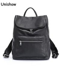 Anti Theft Genuine Leather Backpack Women Brand Designer Cow Leather Bagpack Large Capacity Ladies Travel Bag Backpack