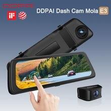 Traço cam ddapai mola e3 dvr gravador de câmera do carro android wifi inteligente conectar hd gps unidade de veículo escondido monitor de estacionamento de vídeo automático