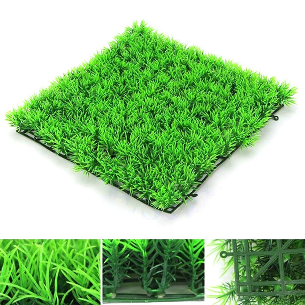 1pc 25x25cm Grass Mat Green Artificial Lawns Turf Carpets Fake Moss For Home Garden Aquarium Fish Tank Decoration