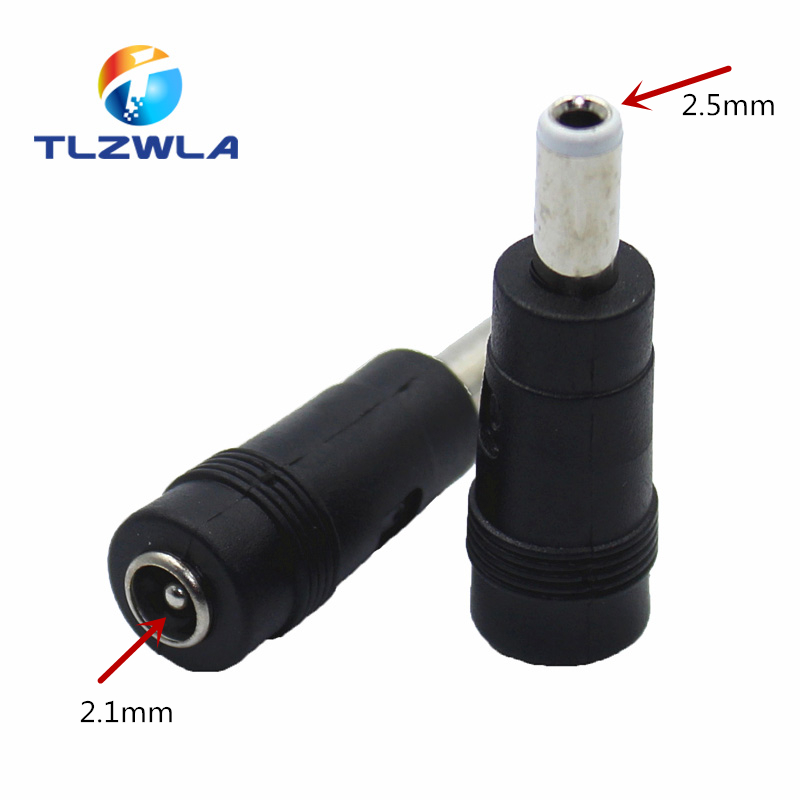 Connector For Dc Power Adapter Connector Plug Conversion Head Jack Female Socket 5.5*2.1mm Turn To Male 5.5*2.5mm
