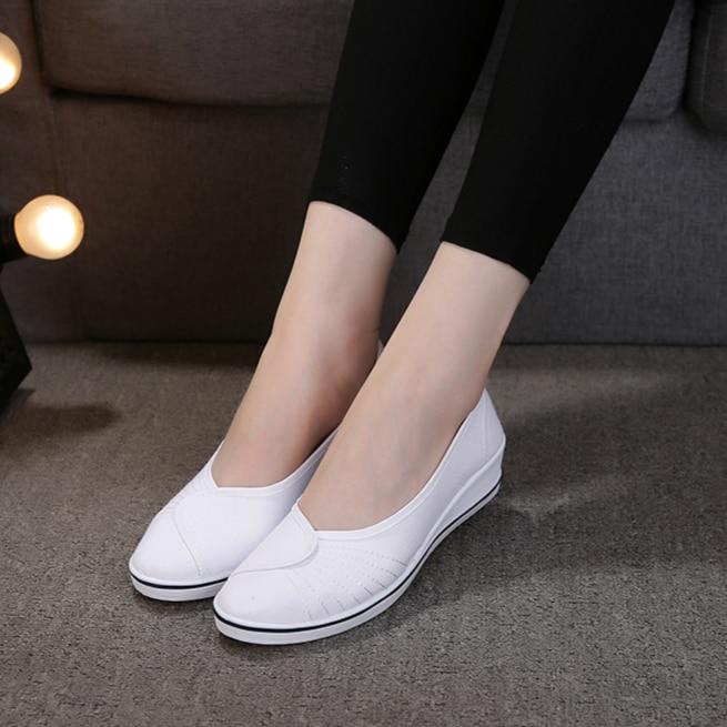 Sabot Hopital Nurse Shoes Women White Beauty Shoe White Zapatos De Enfermera Blanco Socas Hospitalares Zapatillas Zuecos