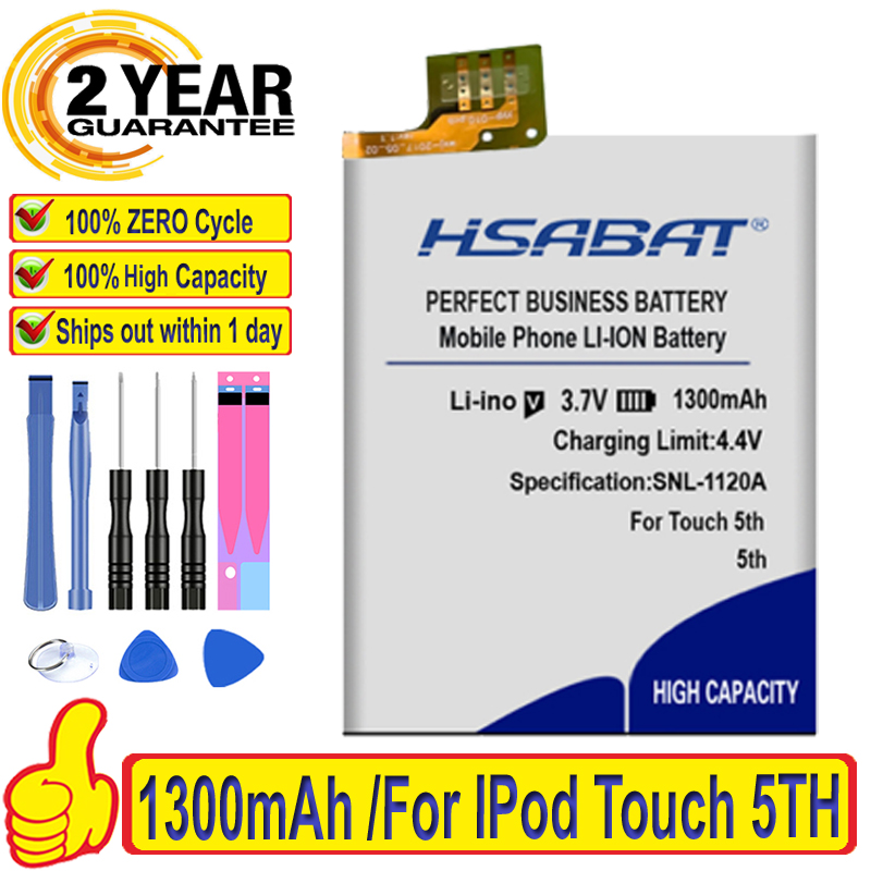 Top Brand 100% New 1300mAh Battery for IPod Touch 5TH 5 5G Batteries + free gfit(China)