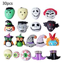 30Pcs Plaksteen Knoppen Halloween Hars Emaille DIY Ambachten Versiering Ghost Monster Schedel Oogbol Scrapbooking Phonecase Decor(China)