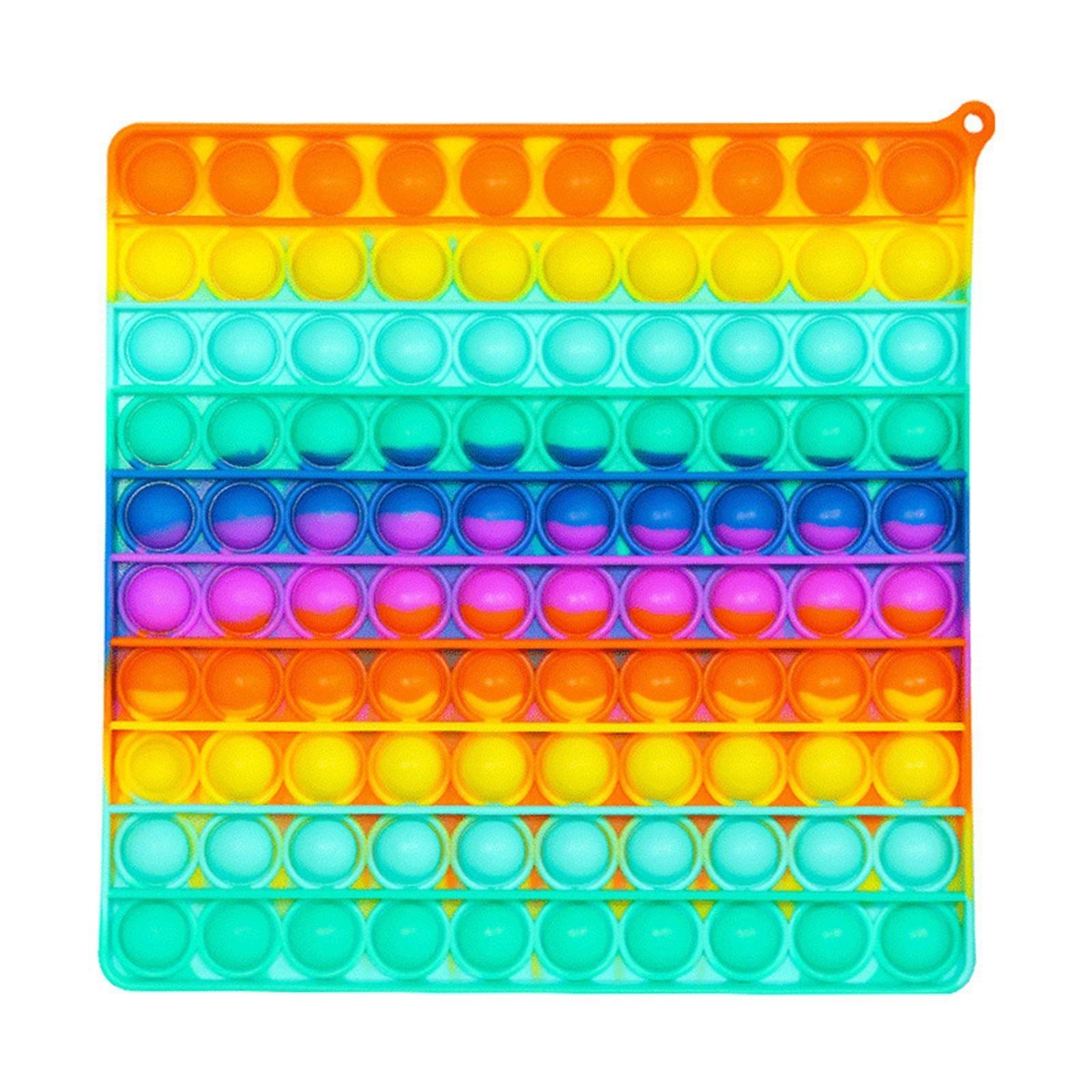 Новые популярные игрушки-антистресс для снятия стресса, радужные пузырьки, игрушки антистресс для взрослых и детей, игрушка для снятия аути...