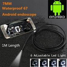 Mini USB Endoscope Camera  Inspection Usb Camera Car Borescope For Android Smartphone/Notebook Hidden 7mm Security Camera