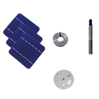 100W DIY Solar Panel Charger Kit 40 Pcs Monocrystalline Solar Cell 5X5 with 20M Tabbing Wire 2M Busbar Wire and Flux Pen