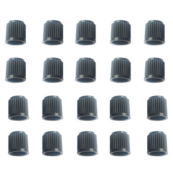 20 Pieces Black Plastic Car Wheel Tire Valve Stems Caps Tyre Lid Dust Covers image