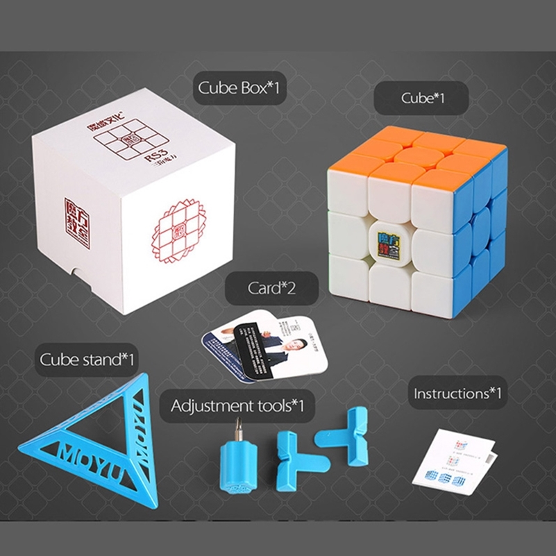 MOYU RS3 3M Cube Magnetic Magic Cube 3x3x3 Professional Cubo Magico Educational Puzzle Toys Rs3m Magnetic Speed Cube RS3 RS3M