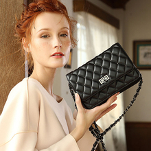 Brand Women Genuine Leather Shoulder Bag 2019 Luxury Crossbody Diamond Lattice Design Chains Large Purse ladies hand bag