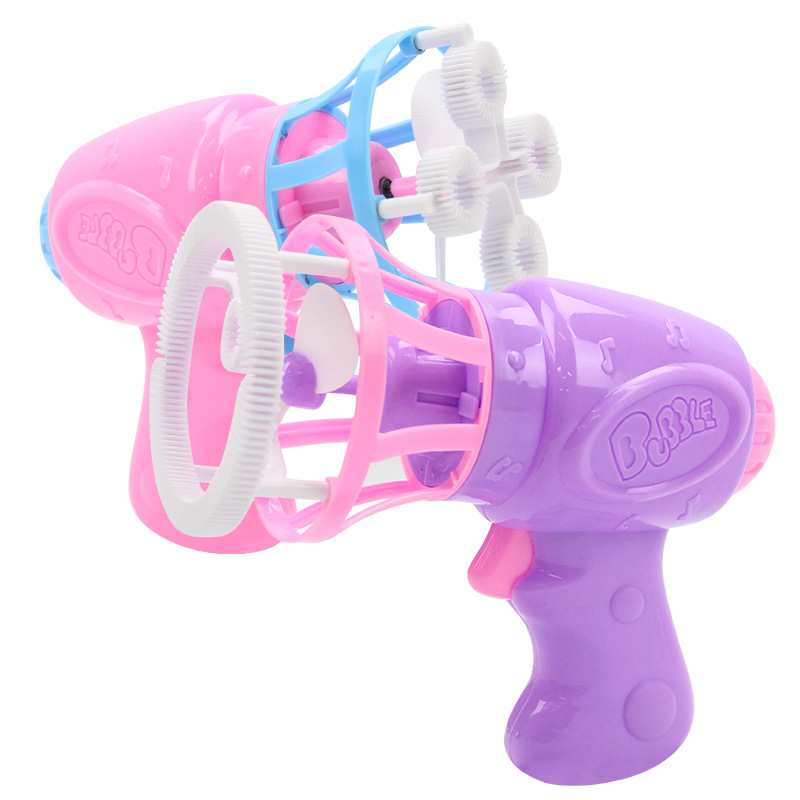 Bubble Blower Machine Toy Kids Soap Water Bubble Gun Cartoon Water Gun Gift For Kids Children Manual Gun Blower