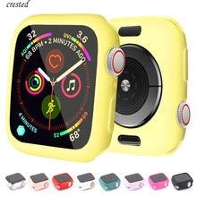 Чехол для Apple Watch 44 мм 40 мм, чехол для iWatch 42 мм 38 мм, аксессуары, силиконовый бампер, защита для Apple watch series 5 4 3 se 6