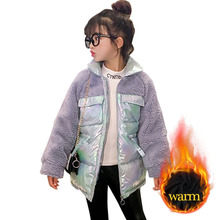 Girl Coat Jacket Winter Clothes Children's 6 Thick 10 8 Long Patchwork 12-14 Teenage
