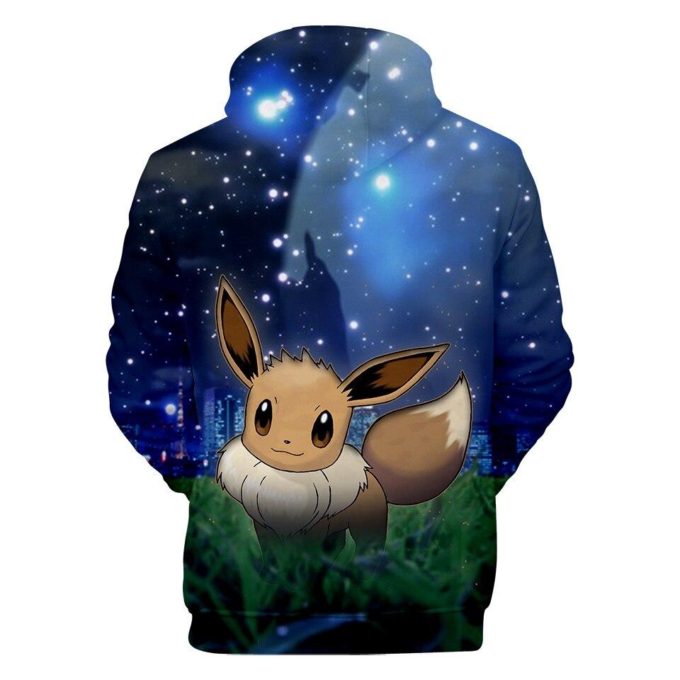 2020 nowy Pokemon Umbreon casual 3D bluzy z nadrukiem mężczyźnikobiety zima polar anime bluza z kapturem moda plus rozmiar kurtka płaszcz