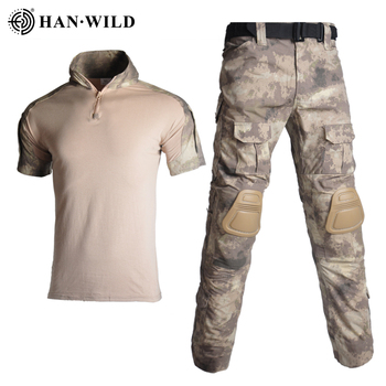 Military Uniform Clothes Suit Men US Army Clothes Tactical Camouflage Military Combat Shirt + Cargo Pants Knee Pads loveslf tactical camouflage military uniform clothes suit men us army clothes military combat shirt cargo pants knee pads