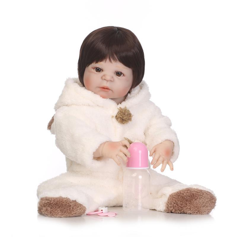 Hot Selling Recommended Model Infant Reborn Baby Doll Full Rubber-Water Toy Swimming Teaching Aids Cute