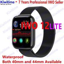 KIWITIME IWO 12 LITE ECG 블루투스 스마트 시계 SmartWatch 40mm 44mm 방수 스마트 밴드 pk Iwo max