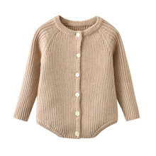 Knitted Baby Romper Sweater Spring Winter Newborn Jumpsuit L