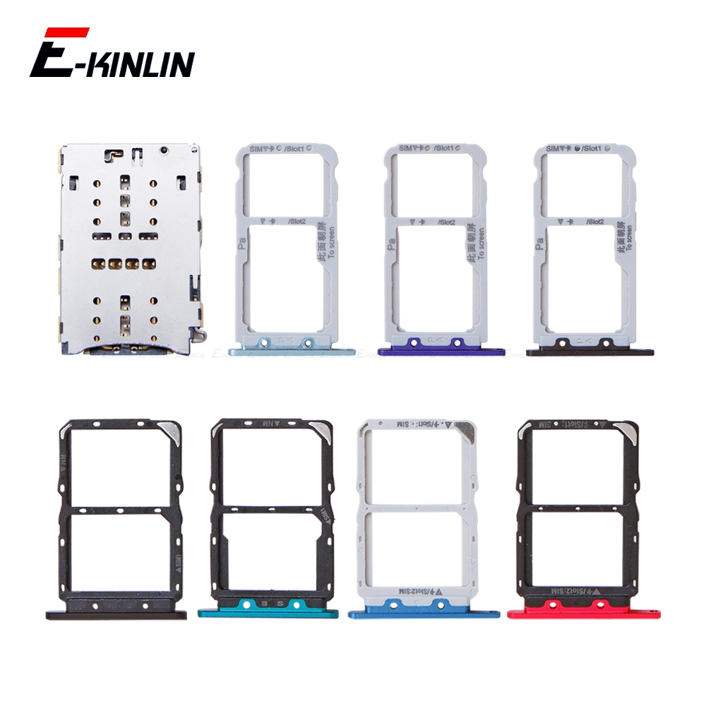 Sim Card / Micro SD Card Tray Socket Holder Slot Container Connector Adapter Reader Replacement Parts For HuaWei Nova 5i 5 4 3