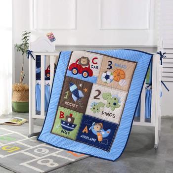 7pcs kit berço baby cot bedidng cot nursery cuna jogo de cama baby bed linen ,include (bumpers+duvet+bed cover+bed skirt)